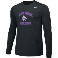 Clear Creek 13: Adult-Size - Nike Team Legend Long-Sleeve Crew T-Shirt - Black