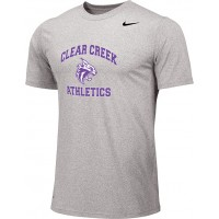 Clear Creek 10: Adult-Size - Nike Team Legend Short-Sleeve Crew T-Shirt - Gray